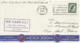 NUEVA ZELANDA , CARTA CIRCULADA A NEW YORK   AÑO 1940, CON MATASELLOS DE LLEGADA - 1907-1947 Dominion