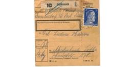 Allemagne  - Colis Postal  Départ Goldkronach - 30-8-43 - Allemagne