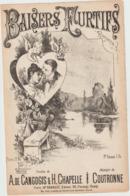 (ETH) BAISERS FURTIFS , Paroles A DE CANGOGIS , Musique COUTRONNE , Illustration BOUTILLIE - Partitions Musicales Anciennes