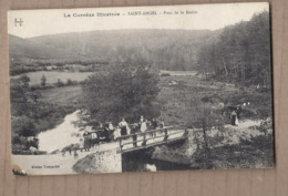 CPA 19 - SAINT-ANGEL - La Corrèze Illustrée - Pont De La Boétie - TB PLAN EDIFICE Avec Très Jolie ANIMATION Dessus - France