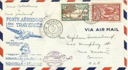 NUEVA CALEDONIA, CARTA CIRCULADA  CAT MULLER 18, AÑO 1940, DIRIGIDA A USA - Neukaledonien