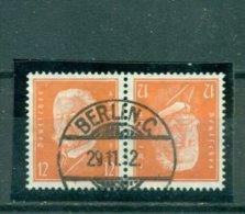 Deutsches Reich, Zusammendruck. Hindenburg, Nr. K 13 Gestempelt - Se-Tenant