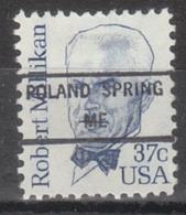 USA Precancel Vorausentwertung Preo, Locals Maine, Poland Spring 846 - Vereinigte Staaten