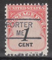 USA Precancel Vorausentwertung Preo, Locals Maine, Porter 835,5 - Vereinigte Staaten
