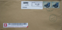België 2019 Oudenaarde 9700 PRIOR In Zwart Kader - Cijfer 1 (fragment 224 X 114 Mm) - Postage Labels