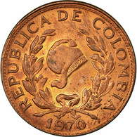 Monnaie, Colombie, 5 Centavos, 1970, TTB, Copper Clad Steel, KM:206a - Kolumbien