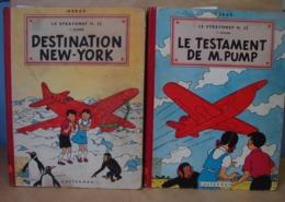 BD. 41. Le Testament De M. Pump Et Destination New York, Le Stratonef H.22. Hergé1951 - Jo, Zette & Jocko