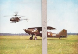 """Aviation Légère Des Forces Terrestres : Avion """" Dornier """" , Moteur """" Lycoming """" / 270 HP-Motor - Hélicoptères"""