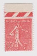 FRANCE Semeuse Lignée:  Timbre De 50 C., C Fermé ?, Neuf** BDF - 1903-60 Sower - Ligned