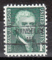 USA Precancel Vorausentwertung Preo, Locals Maine, Rangeley 841 - Vereinigte Staaten