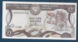 CHYPRE - Billet De 1 Lira  De 1989 - Cyprus