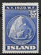 ISLANDE    -   1939  .  Y&T N° 183 *. - 1918-1944 Autonoom Bestuur