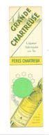 """Marque-pages Publicitaire - Liqueur Des Pères Chartreux """" Grande Chartreuse """" Jaune Ou Verte - Voiron  - Alcool (b260) - Marque-Pages"""