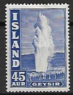 ISLANDE    -   1940  .  Y&T N° 195 *.   Geyser - 1918-1944 Amministrazione Autonoma