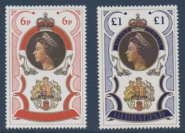 GIBRALTAR  1977  Elisabeth II N° YT 346-348 ** MNH - Gibilterra