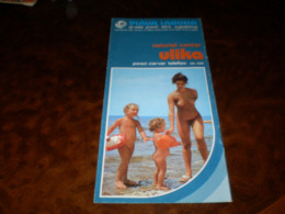 Nude Tourism Brochures Rare Plava Laguna Porec Istra Jugoslavija Naturist Centar Ulika - Dépliants Turistici