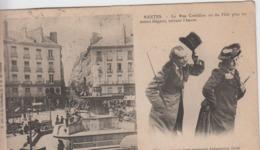 LOIRE ATLANTIQUE - NANTES  La Rue Grebillon Ou Du Flirt Plus Ou Moins élégant, Suivant L'heure - Nantes