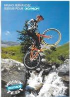 PUBLICITÉ SPORT BRUNO FERNANDEZ TESTEUR POUR DECATLHON VÉLO CYCLISME EDIT. CART'COM - Cycling