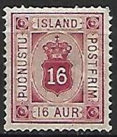 ISLANDE    -   Timbre De Service   -   1876  .  Y&T N° 7 *. - Service