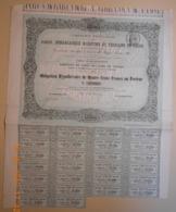 OBLIGATION De La Cie Des PORTS, DEBARCADERES MARITIME Et TERRAINS De CADIX Du 31 Août 1869 - Navigazione