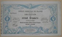 OBLIGATION Du CREDIT COMMUNAL De FRANCE - émission Du 12 Mars 1870 - Shareholdings