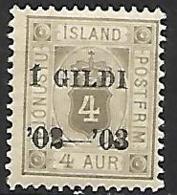 ISLANDE    -   Timbre De Service   -   1902  .  Y&T N° 11 *. - Service