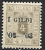 ISLANDE    -   Timbre De Service   -   1902  .  Y&T N° 11 *. - Dienstzegels