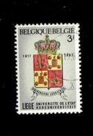 Belgique. (OBP-COB) 1967. N°1434   *Université De Liège Et De Gand, Fondée En 1817*   3F . Obli° - Oblitérés