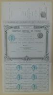 ACTION - COMPTOIR CENTRAL De FRANCE Du 15 Janvier 1882 - Non Circulé BLANQUETTE Avec Talon - Sin Clasificación