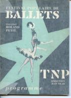 PROGRAMME DES BALLETS ROLAND PETIT ET TNP JEAN VILAR DESSINS D'APRES YVES SAINT-LAURENT ET JEAN COCTEAU 1962/63 - Programs