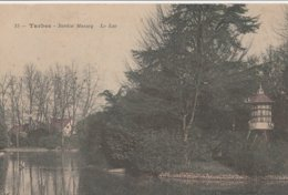 CPA -  19  TARBES - JARDIN MASSEY LE LAC  ECRITE EN 1905  P 622 - Tarbes