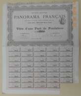 PART De FONDATEUR - PANORAMA FRANCAIS Du 15 Mai 1885 - Cine & Teatro