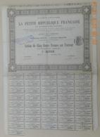 ACTION - LA PETITE REPUBLIQUE FRANCAISE Et Autres Publications Du 16 Août 1880 - Industrie