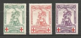 126-128 * Neuf Avec Charnière - Met Plakker (Mint Hinged-gefalzt) - 1914-1915 Red Cross