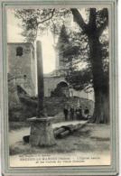 CPA - GREZIEU-le-MARCHé (69) - Thème : Arbre - Aspect Du Chêne Séculaire Près De L'Eglise Et Du Vieux Clocher En 1910 - Other Municipalities