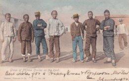 AFRIQUE DU SUD 1904 CARTE DE JOHANNESBURG  GROUP OF CHINESE COOLIES ON THE RAND - Afrique Du Sud