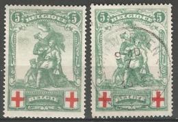 126-128 Lot De FAUX Avec Faux DANGEREUX Voir Description - Vervalsingen - Forgeries-Fälschungen - 1914-1915 Red Cross
