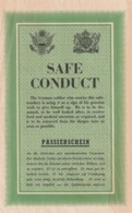Rare Tract Safe Conduct 100 % Origine WW2 Débarquement De Normandie 1944 - 1939-45