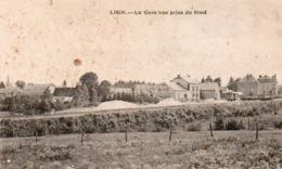 Libin  La Gare Vue Prise Du Nord Rails Et Wagons Circulé Dans Une Enveloppe - Libin