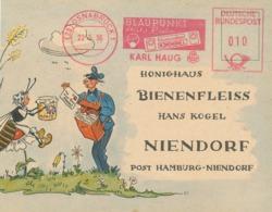 AFS 23 Osnabrück Blaupunkt Autoradio Karl Haug 1956 - Bienenfleiss Biene Honig - Storia Postale