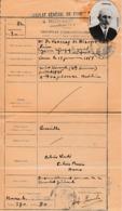 1935 - MONACO - Consulat Général De France Palais BOSIO - Certificat D'Immatriculation Avec Photo - Documents Historiques