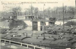 SAINT POL SUR MER - Le Canal De Communication, Péniches. - Péniches