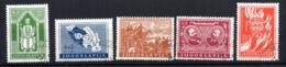 Serie   Nº 375/9  Yugoslavia - 1931-1941 Reino De Yugoslavia