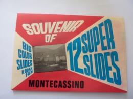 "Souvenir ""12 BIG COLOR  SLIDES KODAK FILM SOUVENIR OF MONTECASSINO"" Anni '60 - Diapositive"