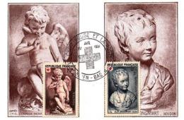 ( 9-54 )   Série 3 Cartes Maxi Croix Rouge Et La Poste Allemagne Baden-baden  01.04.1951-n° 876-877 - 1950-59