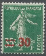 Timbres De 1932-38 Avec Nouvelle Valeur. Type Semeuse Fond Plein. 30 Sur 35c. Vert (361) Neuf Luxe ** Y476 - France