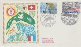 19 / 9 / 235. -  SAUVETAGE  DU  LAC  LEMAN. - Enveloppe   1er  Jour  )-  1885 - 1985 - Stamp's Day