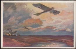 Germany 1914 - Deutscher Luftflotten-Verein Bild-Postkarte, Militärtaube Auf Erkundungsflug Bei Den Masurischen Seen. - Duitsland