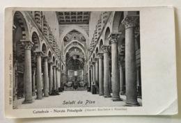 SALUTI DA PISA - CATTEDRALE - NAVATA PRINCIPALE VIAGGIATA FP - Pisa