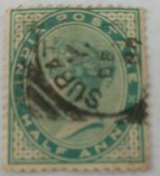 India Inde Victoria Used Stamp..1/2 Anna ...India Postage - India (...-1947)